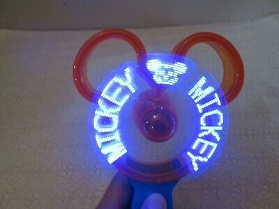 New with Tag - Disney Portable Hand Held Light-Up Kids Fan (   Minnie )