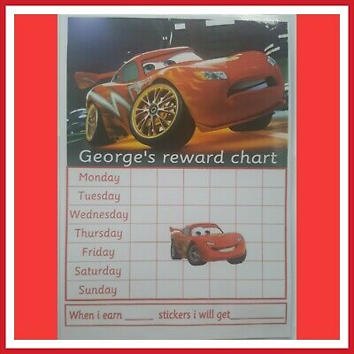 🎀 Children's Behaviour Chart - Reward / star Cars Chart. FULLY RE-USABLE🎀