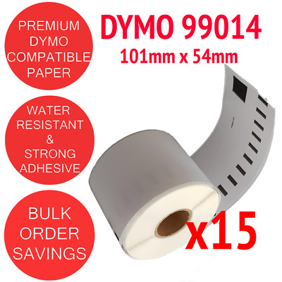 15 x Rolls Compatible Dymo 99014 Shipping / Address label 54mm x 101mm