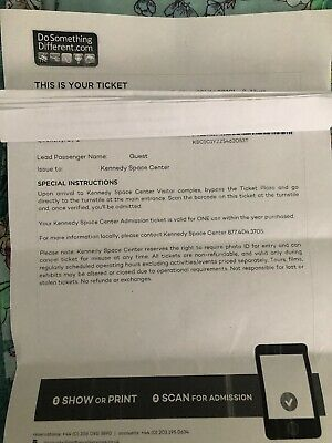 Kennedy Space Centre Admission Tickets - 3 Adults & 1 Child - Valid 2019