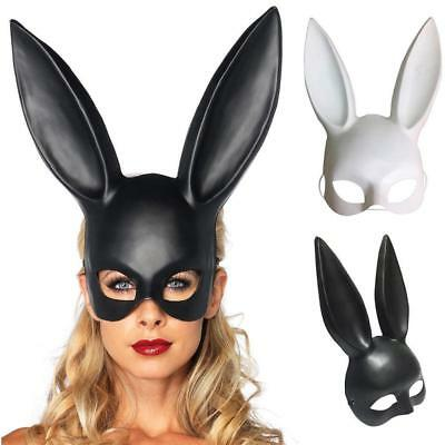 Sexy Hasenohren Maske Bunny Girl Face m Party Maskerade Kostüm Cloth Flowery Neu