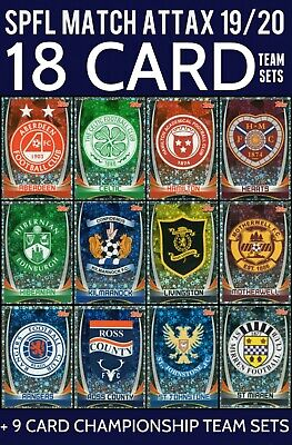 Topps Spfl Match Attax 2019/20 Full 18 Card Team Sets - Scottish Premiership