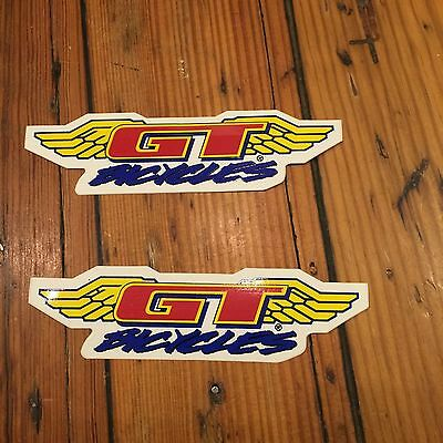 """2 X NEW GT Bicycles Since 1974 Sticker Decal 3x3/"""" Vintage BMX Old Mid New School"""