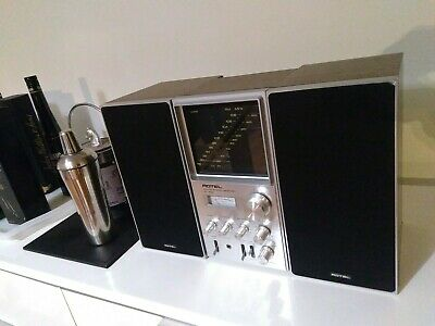 RARE VINTAGE ROTEL RV-555 VERTICAL STANDING RECEIVER HiFi WITH ROTEL SPEAKERS