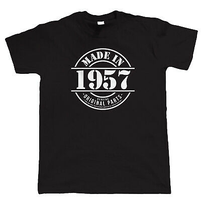 Made in 1957 Mens Funny T Shirt, Gift for Him Dad Grandad Birthday