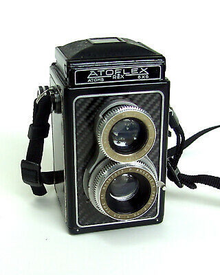 Atoms Rex Atoflex III TLR with cla'd Angenieux X1, 3,5/75 mm, rare & useable!