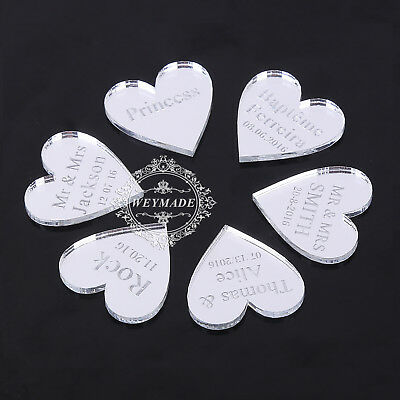100 Personalized Engraved Mr & Mrs Wedding Table Centerpieces Decoration Favours