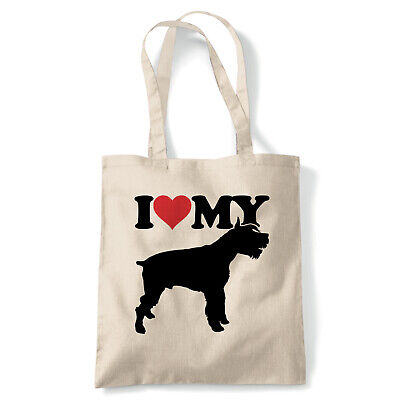 I Love My Giant Schnauzer Tote - Reusable Shopping Canvas Bag Gift