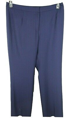 Kasper Womens Ladies Navy Blue Flat Front Dress Pants  Size 12 NEW