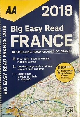 AA 2018 Big easy read France Best selling Road Atlas