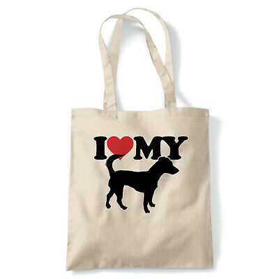 I Love My Jack Russell Tote - Reusable Shopping Canvas Bag Gift