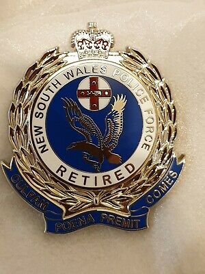 NEW SOUTH RETIRED metal badge