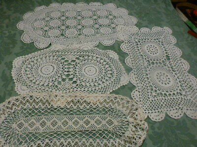 grand lot de napperons faits main crochet coton +un offert