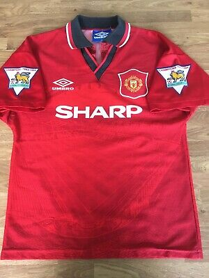 Manchester United Man U Home Football Shirt 1994-1995 Large Boys LB Lextra Patch
