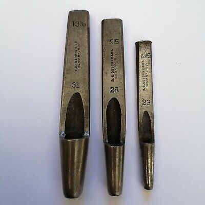 3x Leather Punches Oval CS Osborne tool