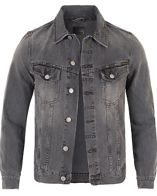 Nudie Mens Denim Jeans Jacket |Billy Desolation Grey |New with small defect