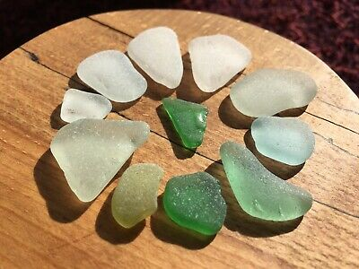 Genuine Norfolk Seaglass White, Green And Blue/Green