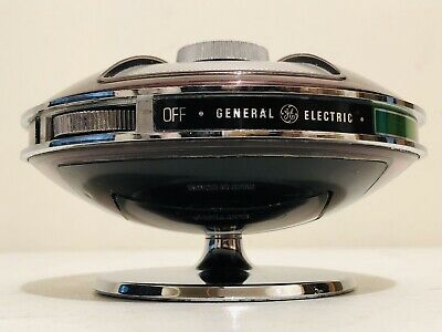 ANTIQUE 70,s GE SPACESHIP MODEL P2775A ATOMIC FLYING SAUCER TRANSISTOR UFO RADIO