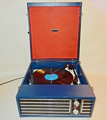 Fidelity HF Series Portable Record Player - Clean & Working, Vintage Prop, 1969