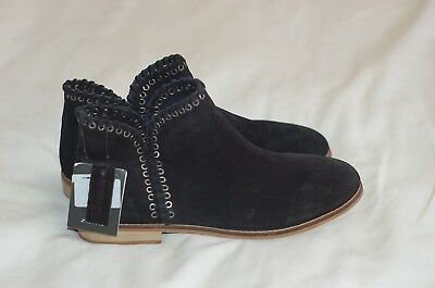 Zara Girls Black Suede Ankle Boots Size US 5 1/2 New with tag