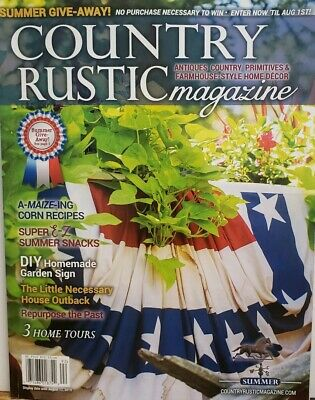Country Rustic Magazine Holiday 2018 Issue Country Primitives Farmhouse Style Other Christmas Winter Decor Home Garden