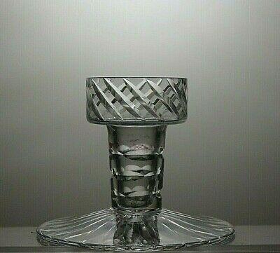 Lovely Cut Glass Crystal Candle Holder
