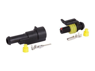 Carmotion Electrical Single Connector Hermetic 1 Set Plug + Socket
