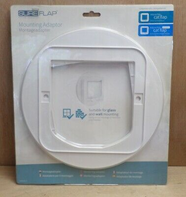 Sure Flap Microchip Cat Flap Mounting Adaptor Plate for Glass + Wall NEW