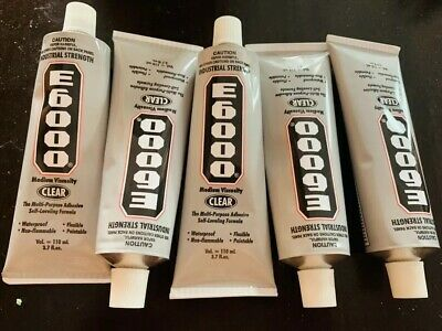 AMAZING GOOP E6000 CRAFT Glue Adhesive CLEAR 3.7 OZ 6 Pcs