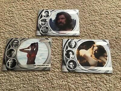 James Bond 40th Anniversary Expansion Die Another Day Base Cards 61 62 63