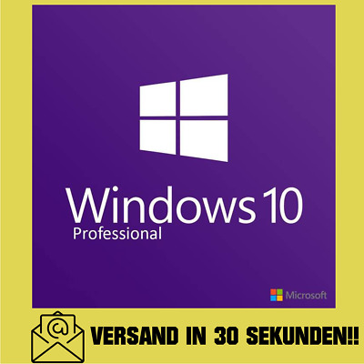 Windows 10 Pro Key 32 und 64 Bit Vollversion Win 10 Lizenzschlüssel !!!