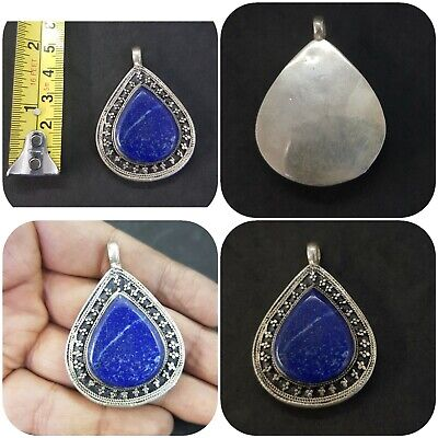 Stunning silver plated Handmade pendent with Natural Lapis lazuli stone #12