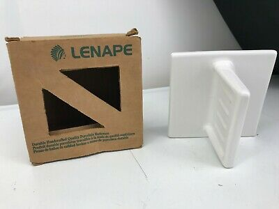 Lenape Handcrafted Porcelain Soap Dish White Number 1801