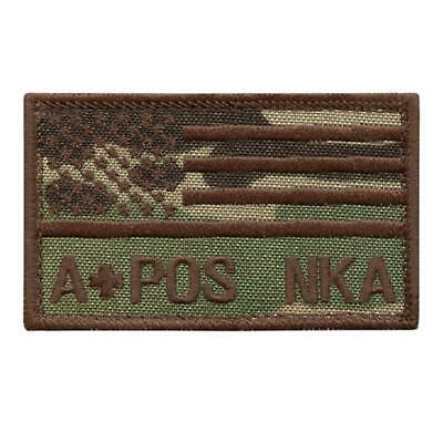 a+ APOS A POS USA flag multicam OCP american embroidered patriotic blood patch