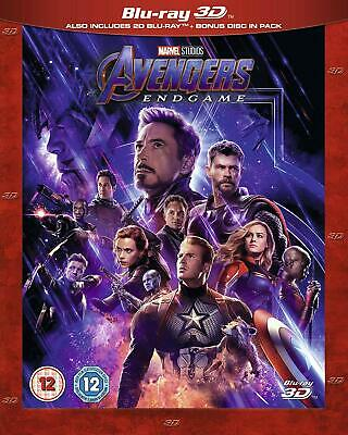 +Excel Cond Like New Avengers Endgame 3D + 2D Blu-ray+Bonus+Artwork+Case+Slip+++