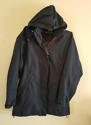 Ref 09 - PETER STORM Ladies Womens Girls Navy Blue Hooded Jacket / Coat Size 10