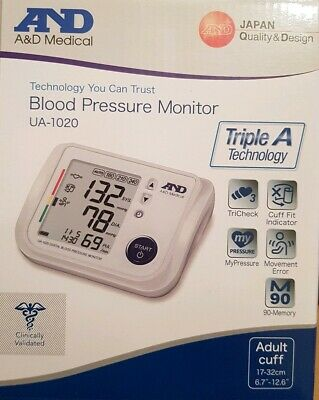 A&D Medical UA-1020 Blood Pressure Monitor - brand new and genuine