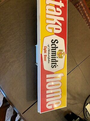 Schmidt's of Philadelphia Beer ( Take Home Department ) lighted bar sign 36.inc