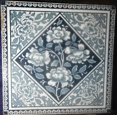WEDGWOOD TILE OF ROSES, PATTTERN T351,  c.1890