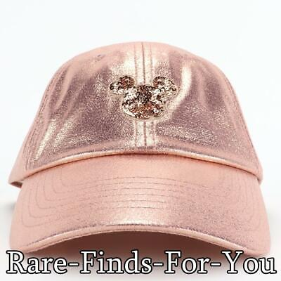 Disney Parks Minnie Mouse Briar Rose Gold Mickey Icon Baseball Cap Hat Adult NWT