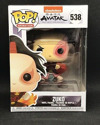 FUNKO POP! 538 Zuko from Avatar the Last Airbender BRAND NEW Animation