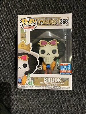 Funko Pop One Piece 2018 NYCC Shared Exclusive #358 Brook Free Soft Protector