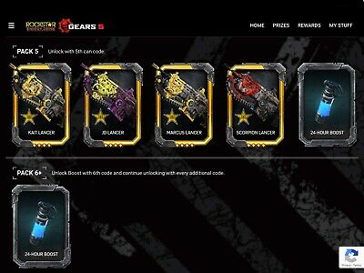 Gears of War 5 Rockstar Packs 1,2,3,4,5,6 & Exclusive Walmart Rockstar DLC codes
