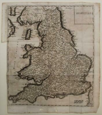 England & Wales 1743 Isaac Tirion Unusual Antique Original Copper Engraved Map