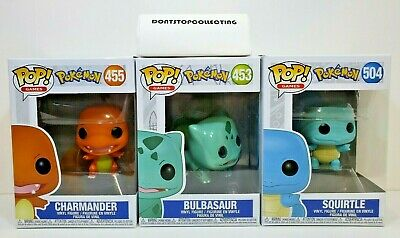 Funko Pop Pokemon Charmander # 455 Bulbasaur # 453 Squirtle # 504 - Lot of 3