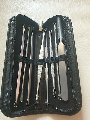 Blackhead Whitehead Pimple Spot Comedone Acne Extractor Remover Popper Tool Kit