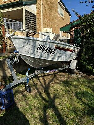 Stacer / Quintrex 420 Nomad 15ft Aluminium boat with a Yamaha CV30 HP outboard