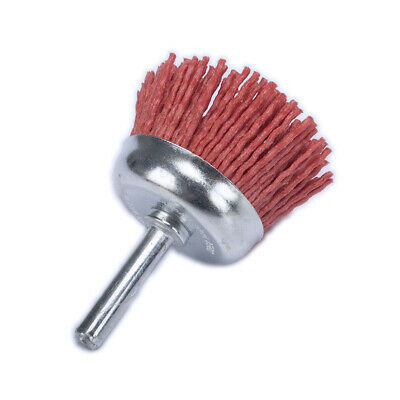 "50mm 2""Nylon Abrasive Wire Brush Cup Polishing Wheel Brushes 80 Grit Rotary Tool"