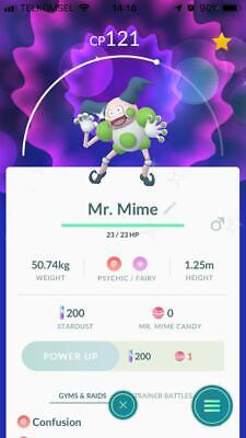 Account Pokemon Go ✨ Mr.mime Shiny ✨