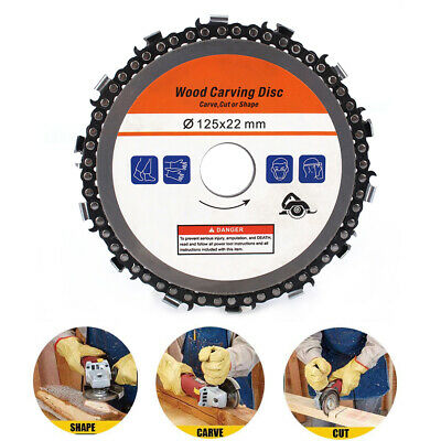 """5"""" Angle Grinder Chain Saw Disc Circular Saw Blade For Wood Carving Cutting"""